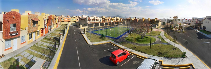 EcoCasa homes on Toledo Road in Pachuca