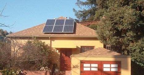 Solar panel on a home
