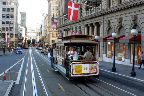 San Francisco exterior with streetcar