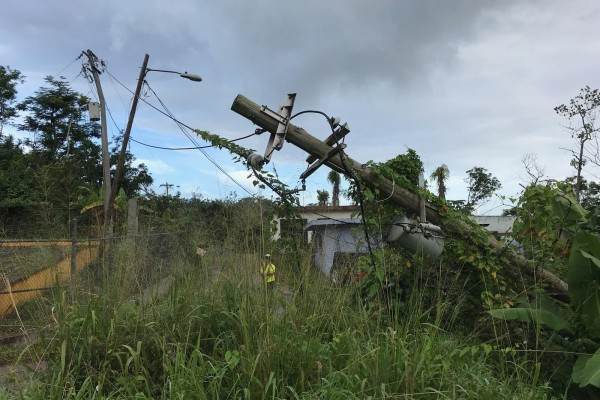 Storm damage in Puerto Rico